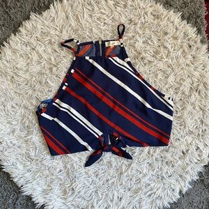 Tops - Red white and blue crop top